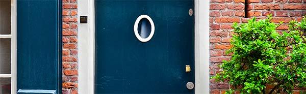 Ruit in een deur